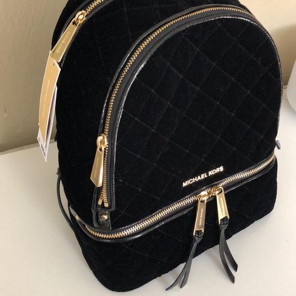 a70a076d9a29 ... coupon code for michael kors backpack black velvet rhea med. 3adc8 5cb8d